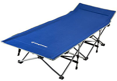 KingCamp Sturdy Stable Folding Camping Bed Cot carrying Bag