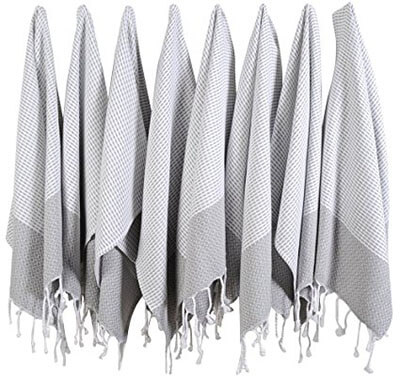 BOSPHORUS Turkish Cotton Hand Face Head Guest SET of 8 Gym Towels
