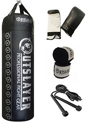 Out slayer 80lb Boxing and MMA Punching Bag Kit