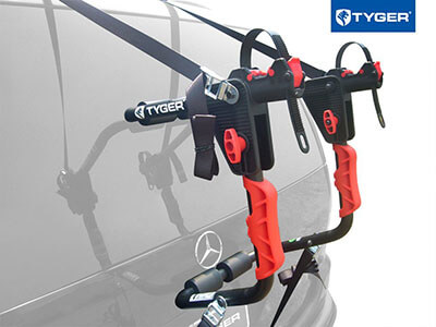 Tyger Auto TG-RK1B204B Deluxe Trunk Mount Bicycle Carrier Rack, Black 1-Bike