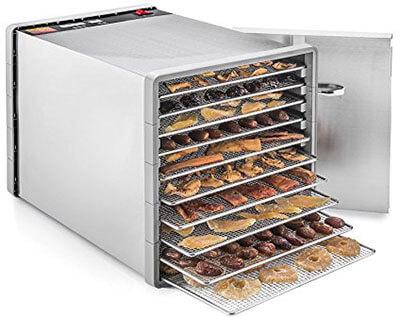 STX International STX-DEH-600W SST-CB, 10 Tray Food and Jerky Dehydrator, Stainless steel