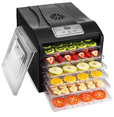 Magic Mill Professional Food Dehydrator, Multi-Tier Food Preserver, Digital Control