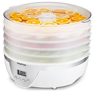 Gourmia GFD1550 Food Dehydrator, 5 Nesting Tray Drying System