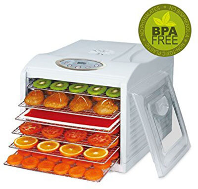BioChef Arizona Sol Food Dehydrator, 6 Stainless Steel Mesh Trays