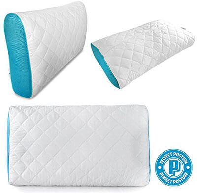 Perfect Posture Premium Memory Foam Adjustable and Shredded Pillow