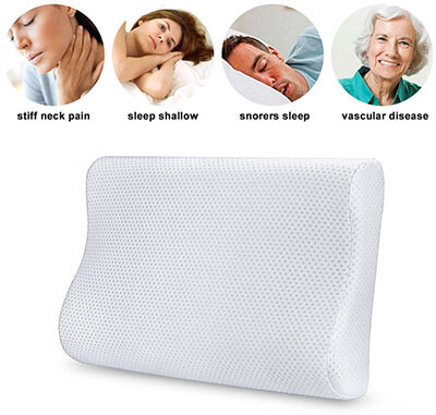 Aohayo Memory Foam Hypoallergenic Material Comfortable Pillow