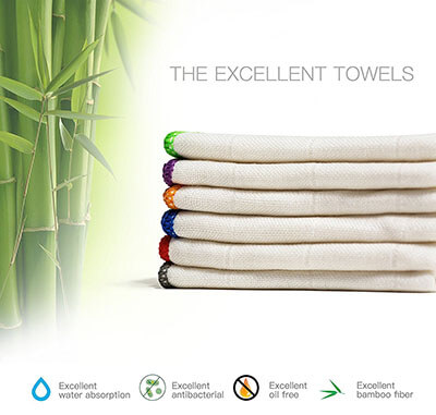 BONDRE Kitchen Towels Eco-friend Microfiber, 100 Percent Bamboo
