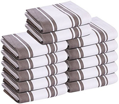 Utopia Towels 12 Pack Kitchen Towels Dish Cloth
