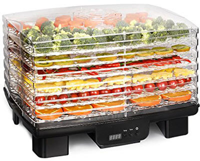 Costzon Food Dehydrator, 6 Trays Vegetable and Fruits Dehydrator