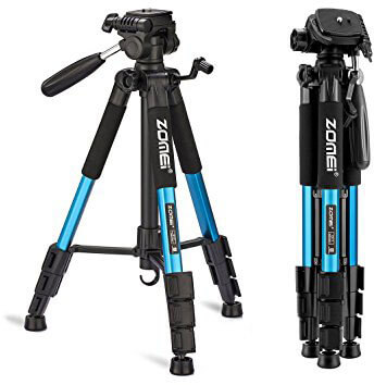 ZOMEI 55-Inch Compact Light Weight Travel Portable Folding SLR Camera Tripod