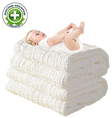 LOVE MY Natural Antibacterial, cotton baby towel