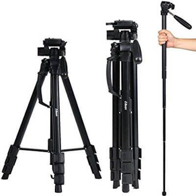 Albott 70-Inch Digital SLR Camera Aluminum Travel Portable Tripod/Monopod