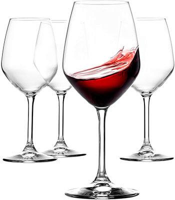 Paksh Novelty 18 oz Italian Red Wine Glasses