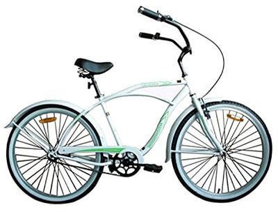 Woodworm 26-Inch Mens Beach Cruiser Bike