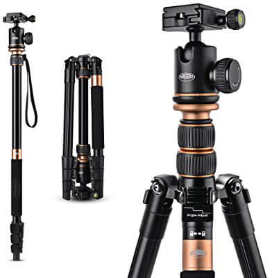 Rangers 57-Inch Ultra Compact and Lightweight Aluminum Tripod