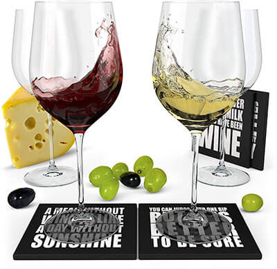 Advanced Mixology Wine Science Crystal Wine Glasses Set