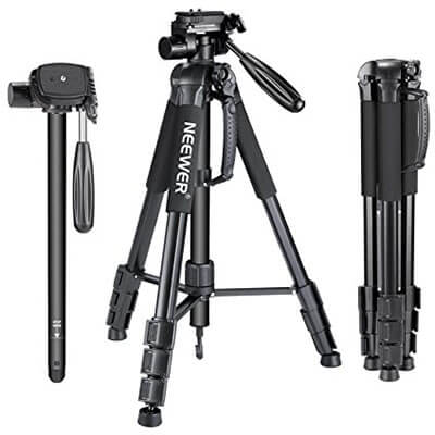 Neewer Portable 70 inches Aluminum Alloy Camera Tripod/Monopod, 3-Way Swivel Pan Head