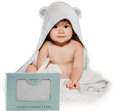 Natemia Bamboo Baby Bath Towel, Hooded