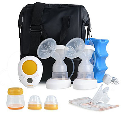 MADENAL Double-Electric Breast Pump Travel Set, Ice Pack