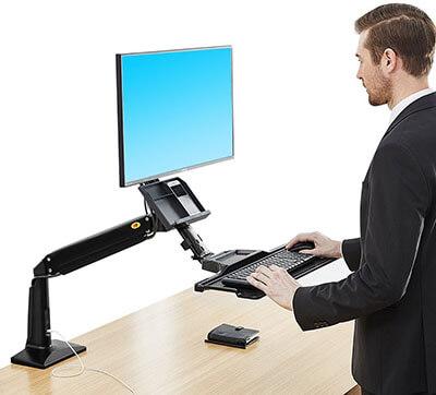 North Bayou Sit/Stand Desk Height-Adjustable Standing Desk Workstation