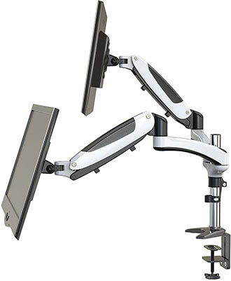 HUANUO Full Motion Dual Monitor Arm Mount Computer Monitor Stand