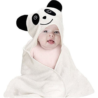 House Again Baby Hooded Bath Towel, Organic Bamboo