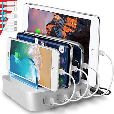 Poweroni 4-Port USB Charging Station Dock