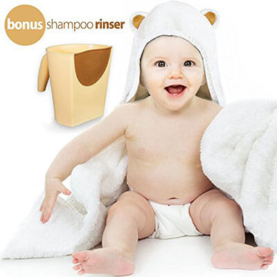 Hali products luxury Baby Hooded Towel and Shampoo Rinser