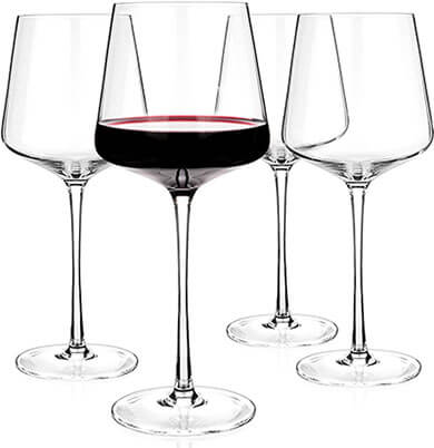 Luxbe Crystal Wine Glasses, Lead-Free Red and White Wine Glass
