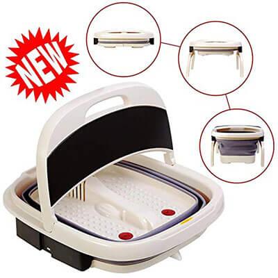 Reluen, All in One Pedicure Machine, Set Portable Foot Bath Tub
