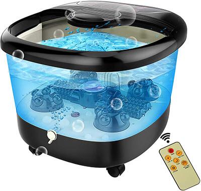ACEVIVI Motorized Shiatsu Balls Foot Spa Bath Massager with Heat and Bubble Jets
