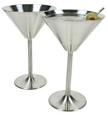 RSVP Endurance Stainless Steel Martini Glasses