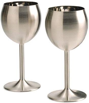 RSVP International Endurance Stainless Steel Wine Glass