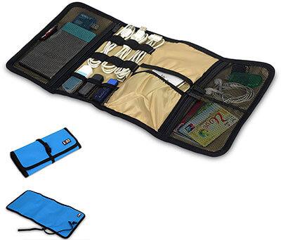 BUBM Portable Electronics Accessories Travel Organizer, Universal Wrap
