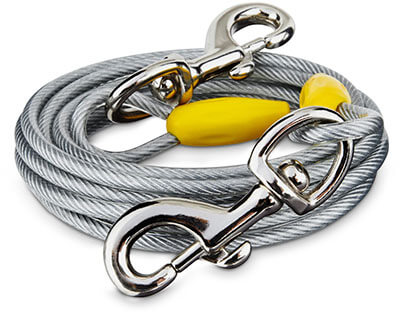 You & Me X-Large Free to Flex Dog Tie-Out Cable