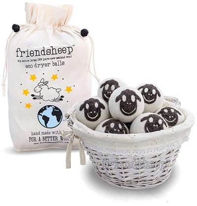 Friendsheep Organic Eco Wool Dryer Balls100% Handmade, 6 Pack