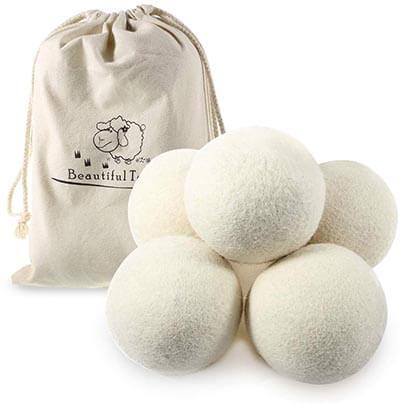 Beautiful-tech Australian Wool Dryer Balls Reusable Organic Natural Fabric Softener