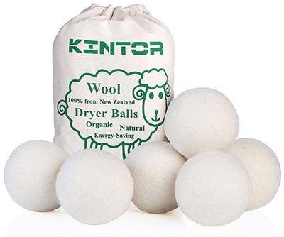 KINTOR Wool Dryer Balls XL 100% New Zealand Wool Organic Fabric Softener Balls