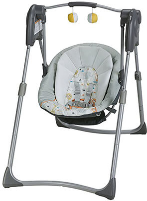 Graco Slim Spaces Compact Baby Swing by Linus
