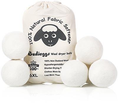Budieggs Wool Dryer Balls Organic XL1New Chemical Free Fabric Softener