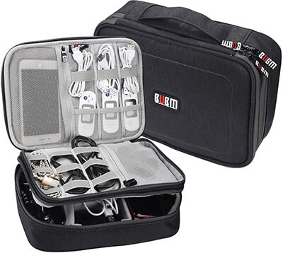 BUBM Electronics Organizer Cord Bag Accessories Travel Office Cable and Gadget Organizer