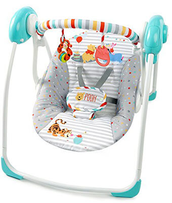 WINNIE THE POOH Happy Hoopla Portable Swing by Disney