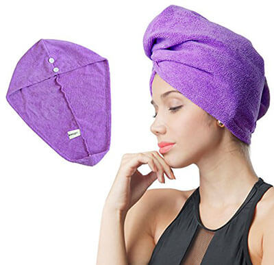 Softown Dry Wet Hair Cap Microfiber Drying Towel
