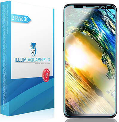 AquaShield HD Clear Anti-Bubble Film Screen Protector for Galaxy S9