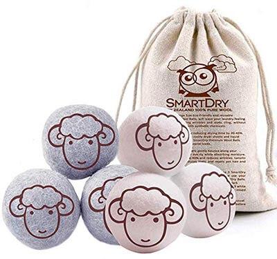NuVur Natural Wool Dryer Balls Organic Fabric Softener Laundry Clothing Drying Balls