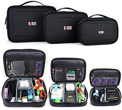 BUBM Electronic Organizer Travel Gadget Bag, 3 pcs