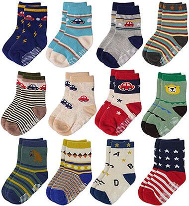 Flanhiri Baby Boys Non-Skid Cotton Socks