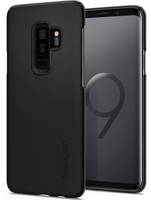 Spigen Thin Fit Galaxy S9 Plus Case SF Coated Non-Slip Matte Surface