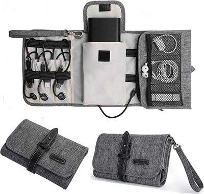 Jelly Comb Portable Electronic Bag Organizer