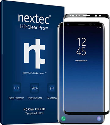 Nextec Galaxy S9 Screen 3D Samsung Protector, S9 Tempered Glass Screen Protector